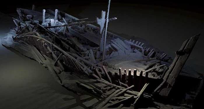 Kapal karam kuno di Laut Hitam. Foto: Dr Rodrigo Pacheco-Ruiz/Black Sea MAP