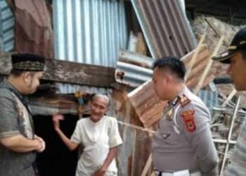Kasat Lantas Polres Wajo, Muh Yusuf menemui I Tang. Foto: Rakyatku