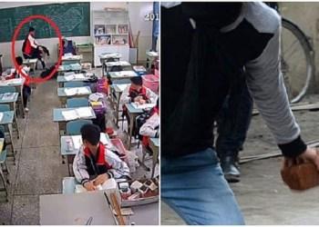 Murid di Cina pukuli gurunya di kelas hingga tewas. Foto: Sin Chew Daily