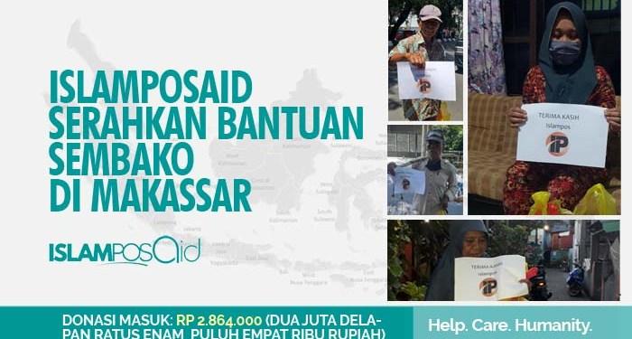 IslamposAid Serahkan Bantuan Sembako di Makassar 1