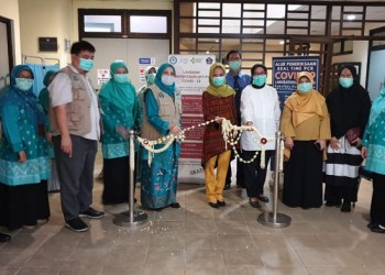 Peresmian laboratorium terpadu milik UIN Jakarta untuk melayani pemeriksaan molekuler Covid-19.  Foto: Kemenag