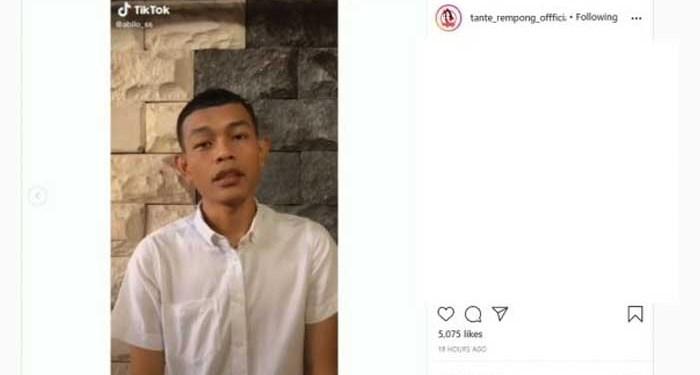 Pembuat konten TikTok parodi akhirat meminta maaf. Foto: Instagram/tante_rempong_offficial