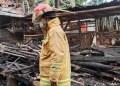 Pondok pesantren (ponpes) di Megamendung, Kabupaten Bogor, terbakar. Foto: Detik