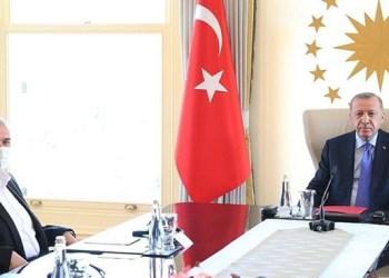 Erdogan menerima kunjungan delegasi Hamas di Ankara. Foto: PIC