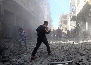 Belasan ribu warga sipil tewas dibunuh rezim Assad. Foto: Yeni Safak