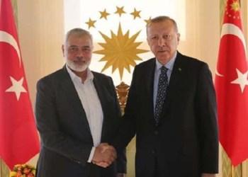 Ismail Haniyeh dan Erdogan. Foto: PIC