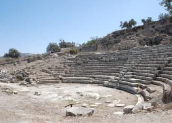 Situs arkeologi Sebastia. Foto: WAFA