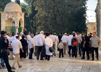 Yahudi menggerebek Al Aqsha. Foto: PIC