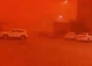 Badai pasir. Foto: Alarabiya