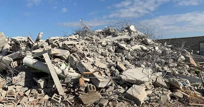 Bangunan Palestina hancur. Foto: PIC