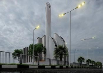 Desain Masjid Syeikh Ajlin. Foto: Fokus Jabar