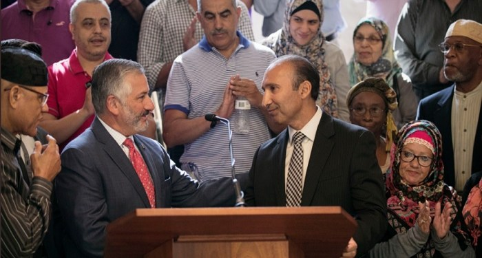 Walikota dan komunitas muslim St Petersburg, Florida, AS. Foto: Twitter