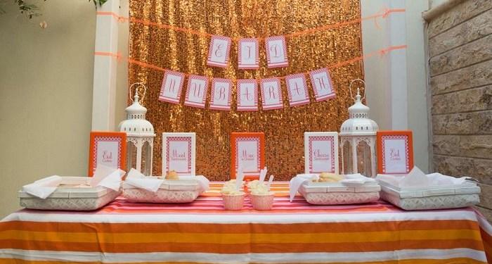 Ilustrasi perayaan Idul Fitri Eid Mubarak