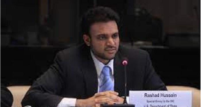 Rashad Hussain muslim pertama