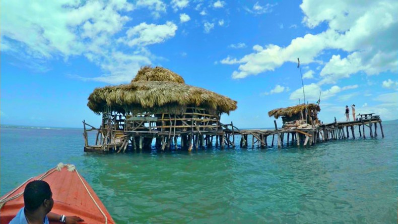 Floyd's pelican bar view from the boat