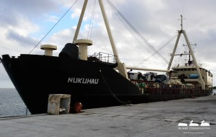 Nuku Hau - this cargo ship is carrying all of our supplies and equipment for the project.