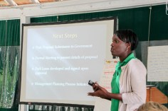 Lakeisha Anderson (BNT) presents the process of establishing national parks