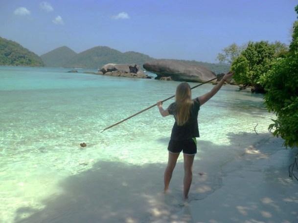 island conservation julia dunn spear fishing
