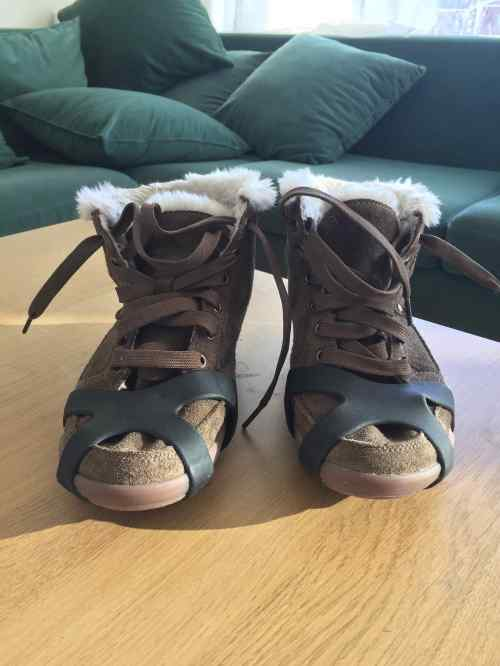 Ice shoes de Mme Puffin