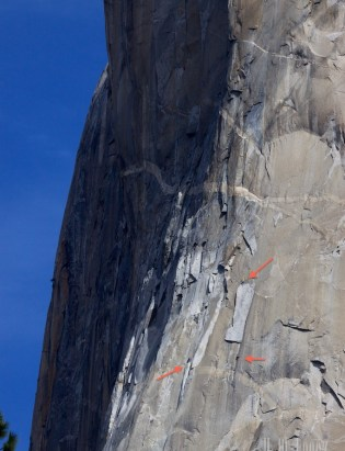 4 climbers in this picture.  2 on left, 2 on right.
