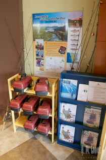 Free loaner fishing gear at the visitor center!