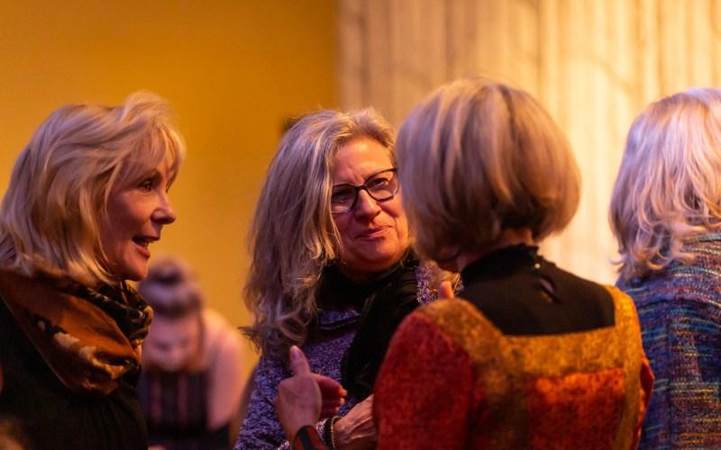 Sue with volunteers, Susanne Egli and Carolyn Ward Denton