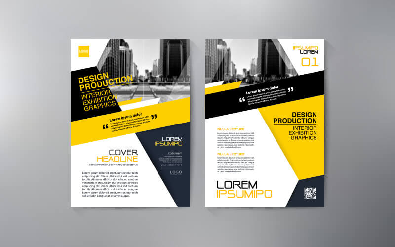 Two Sides Of An A4 Flyer Design