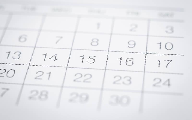 A Close Shot Of A Calendar