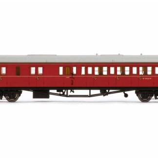 Hornby BR, Collett 'Bow-Ended' Corridor Brake Third Class LH, W4936W, Maroon - Era 5