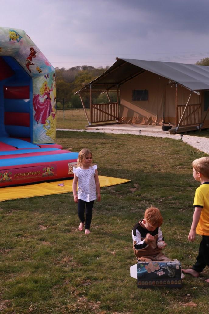 safari tents bouncy castle
