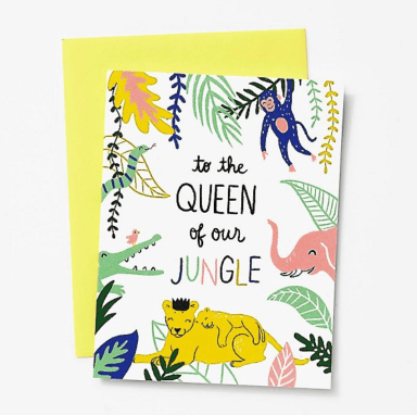 queen of our jungle mother's day cards