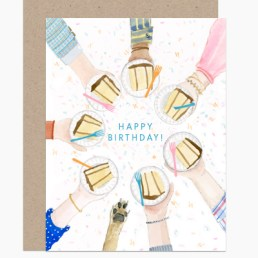 birthday cake circle card