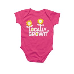 locally grown baby onesie