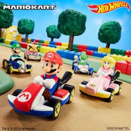mario kart hot wheels cars