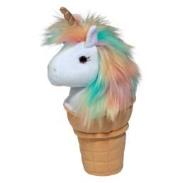 unicorn ice cream cone macaroon