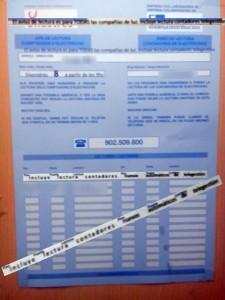 papel lectura contadores luz que incuye NO contadores electronicos nuevos - RESIZE