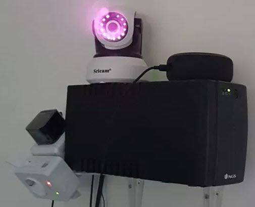Sistema de Vigilancia Casero (con Alexa) que funciona incluso sin que haya corriente