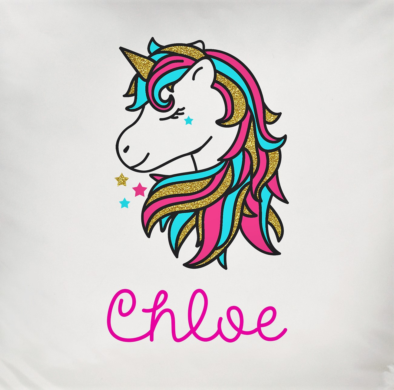 Personalised Unicorn Head Cushion Cover Only