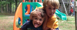 Silliness on the playground