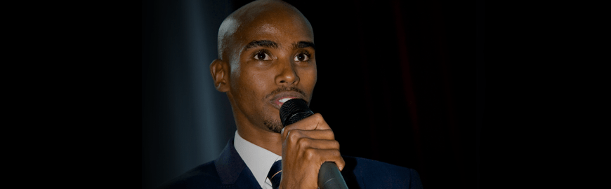 Mo Farah Surprises Guests – Awards & Display Evening 2013