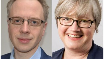Council Leader Richard Watts (left) and Cllr Caroline Russell