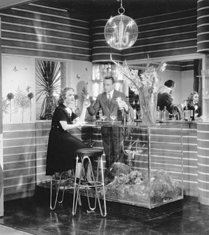 Another of Medin's set designs, for La casa del peccato (The House of Sin; Dir. Max Neufeld, 1938). Photograph: attributed to Aurelio Pesce, courtesy Fondazione Centro Sperimentale di Cinematografia – Cineteca Nazionale