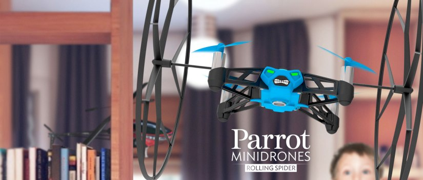 parrot rolling spider mini drone