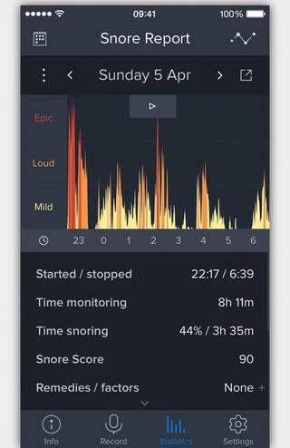Snoring app healthkit