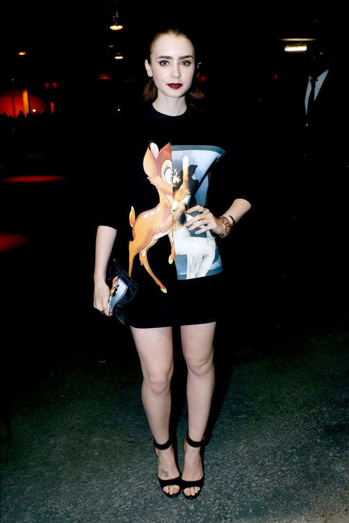 Lily Collins en la Semana de la Moda de París 2013. Fotografía: Splash News
