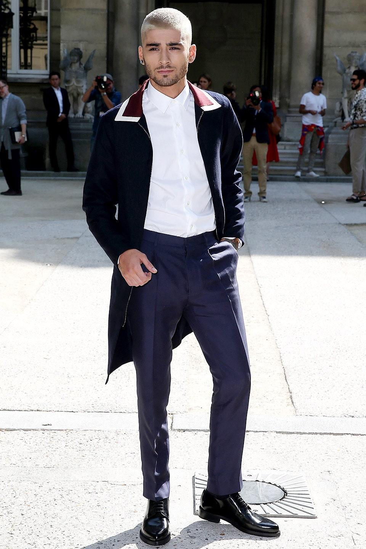 Zayn Malik en el Valentino Fashion Show 2015. Fotografía: Pierre Suu/Getty Images