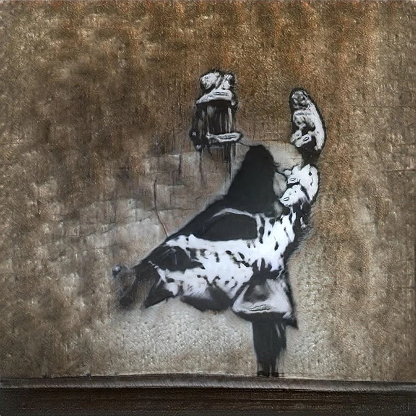 Una de las obras de GANKsy. Fotografía: vole.wtf