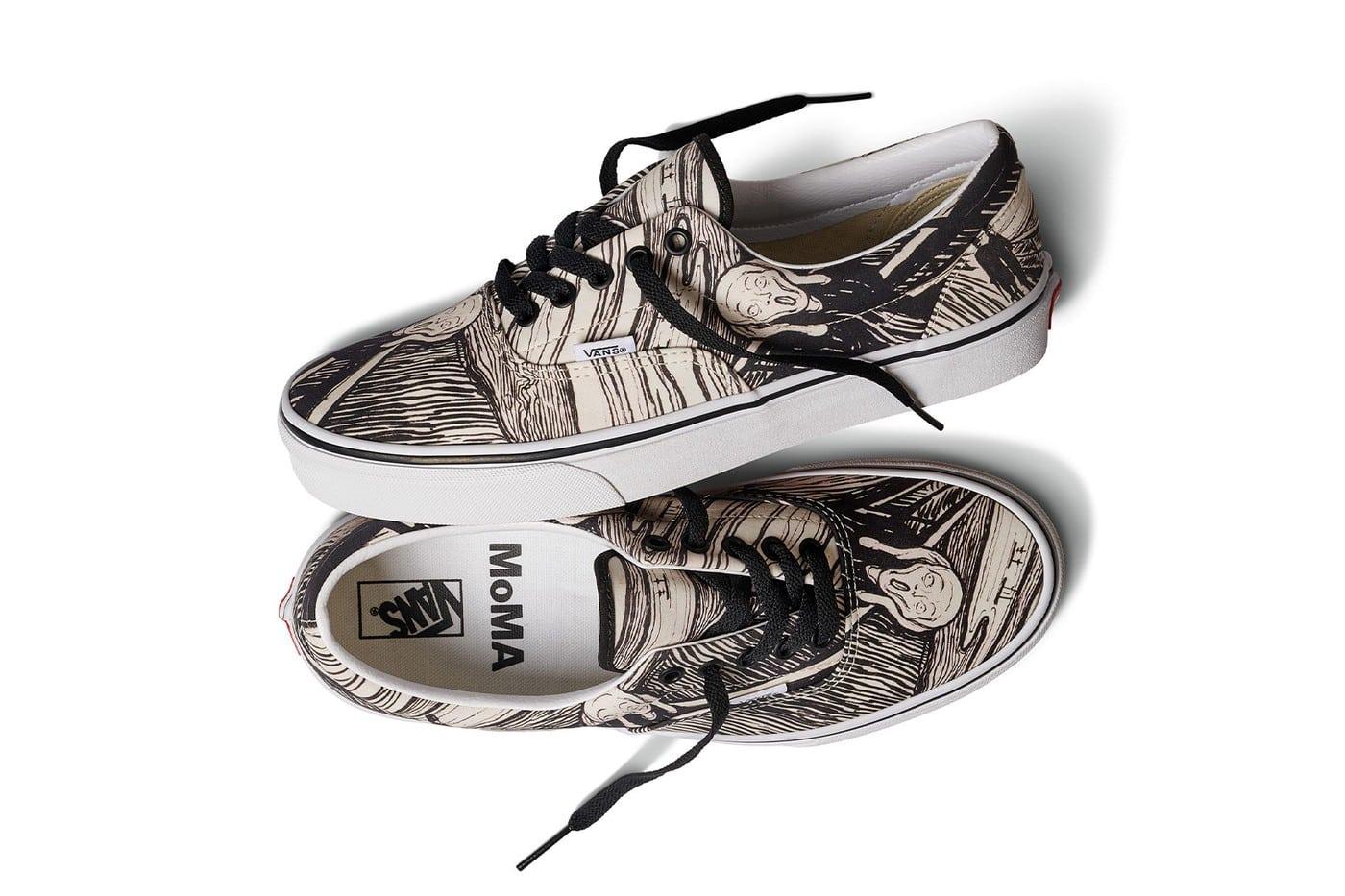 Vans y el MoMA unen el arte con el streetwear en esta collab con arte de Edvard Munch, Jackson Pollock y más