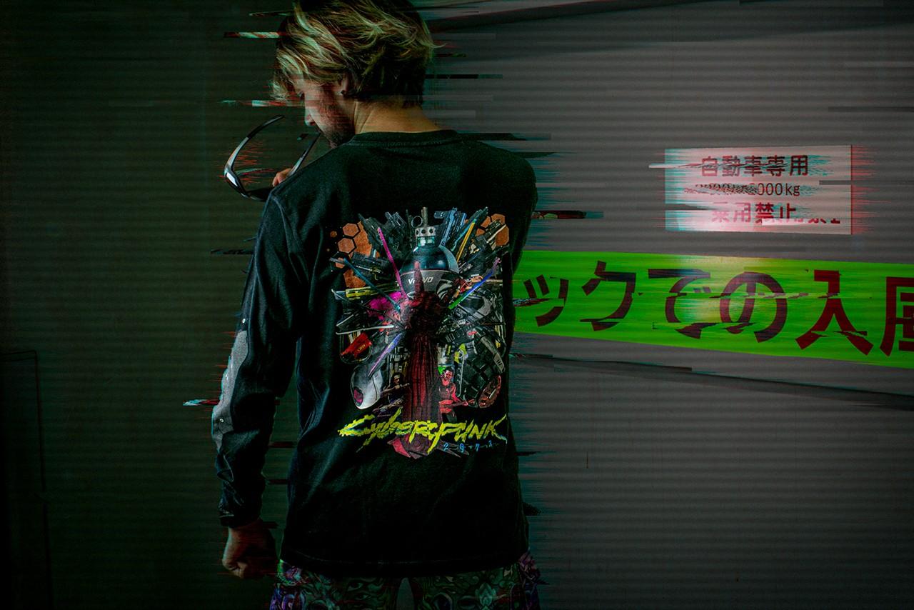 """""""Cyberpunk 2077"""" se une al artista japonés Kosuke Kawamura para un drop de camisetas"""