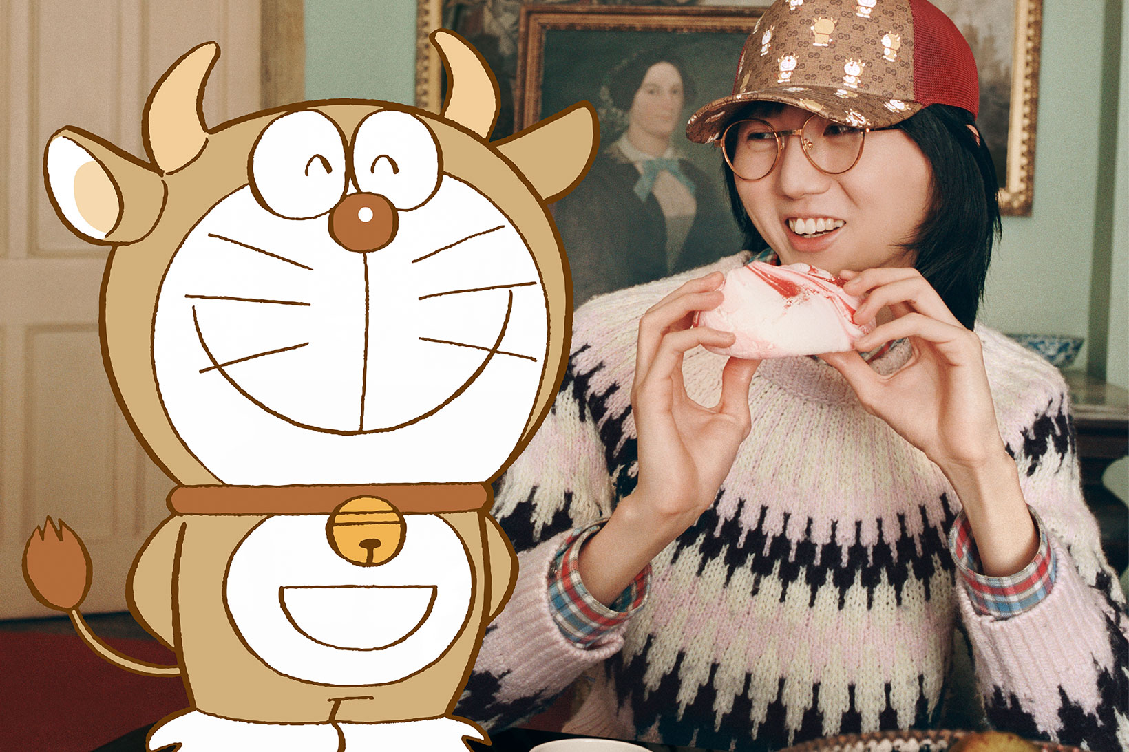 Doraemon x Gucci. Fotografía: Gucci